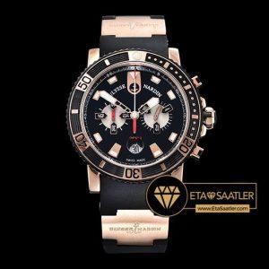 Ulysse Nardin Maxi Marine Diver Chronograph Siyah Kadran Siyah Kordon ETA