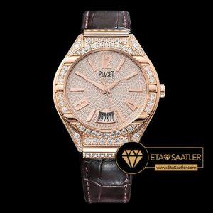Piaget Piaget Polo Diamonds Taşlı Pembe Altın Kasa Pembe Kadran ETA