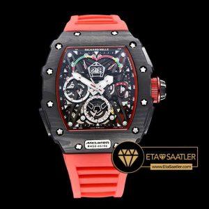 Richard Mille Chronograph RM050-03 Mclaren Limited Karbon Kasa Kırmızı Kordon ETA