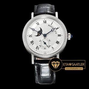 Breguet Classique MoonPhase 3300 Taşlı Çelik Kasa Beyaz Kadran ETA