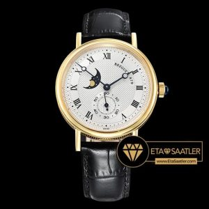 Breguet Classique MoonPhase 3300 Sarı Altın Kasa Beyaz Kadran ETA