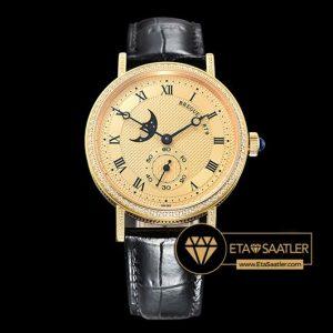 Breguet Classique MoonPhase 3300 Taşlı Sarı Altın Kasa Altın Kadran ETA