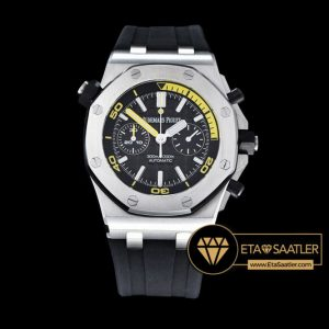 Ap0354 Royal Oak Offshore Diver Chrono Ssru Black Jf A3126 Ap0354 7