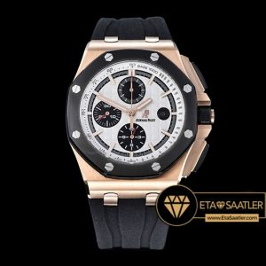 Ap0375a Ap Royal Oak Chrono Rgru White Jhf A3126 Secs@9 12