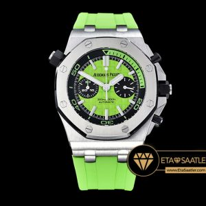 Ap0388b Royal Oak Offshore Diver Chrono Ssru Grn Noob A3126 Ap0388b 6