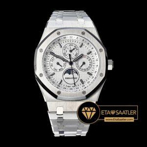 Ap0496 Royal Oak Perpetual Calendar 26574 Ssss White Jf A5134 Ap0496 5