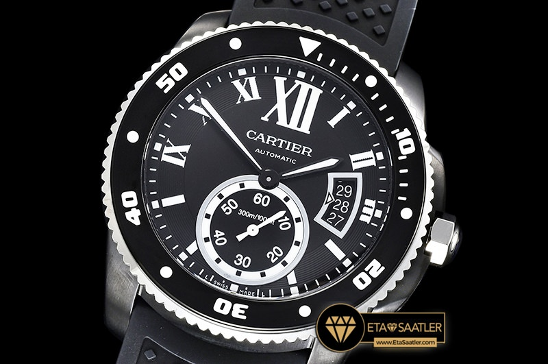 Car0382a Calibre De Cartier Dlcru Black Jjf 11 Asia 23j Mod Calibre De Cartier Diver All Black 01 01