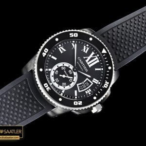 Car0382a Calibre De Cartier Dlcru Black Jjf 11 Asia 23j Mod Calibre De Cartier Diver All Black 05 03