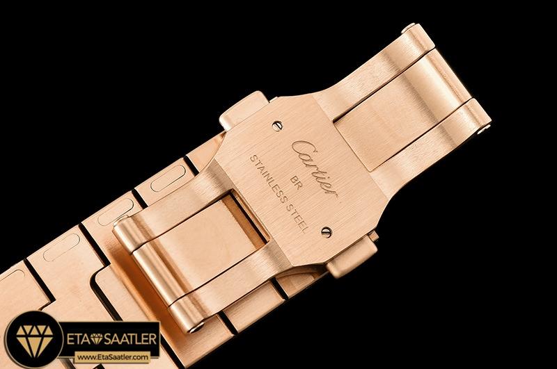 Cartier Santos De Cartier Men 2018 XL Rose Kasa Beyaz Kadran ETA