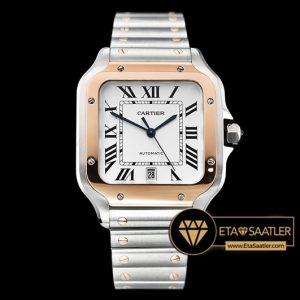Cartier Santos De Cartier Men 2018 XL Çelik Kordon Rose Bezel ETA