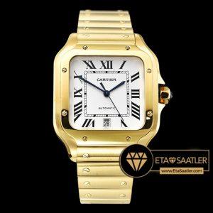 Cartier Santos De Cartier Men 2018 XL Gold Kasa Beyaz Kadran ETA