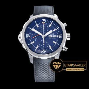 Iwc0348 Aquatimer Chronograph Ssru Blue V6f Asia 7750 Iwc0348 6