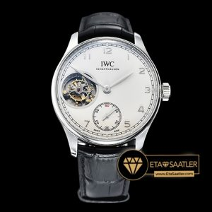 IWC Portuguese IW5463 Tourbillon Gümüş Kasa Beyaz Kadran ETA