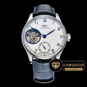 IWC Portuguese IW5463 Tourbillon Gümüş Kasa Mavi İndeks Beyaz Kadran ETA