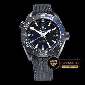 Omega Planet Ocean GMT Deep Black Mavi Seramik Bezel DLC Kaplama ETA