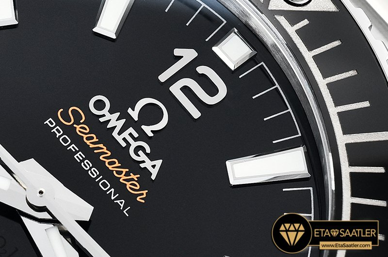 Omega Planet Ocean 43.5mm VSF Siyah Bezel Siyah Kadran V2 Versiyon Clone ETA