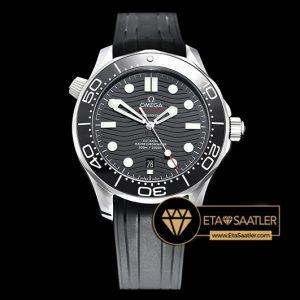 Omega Seamaster 300m Basel 2018 Siyah Kadran Kauçuk Kordon 8800 Clone ETA