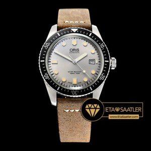 Oris Divers 7720 Serisi Çelik Kasa Gri Kadran A2836 Clone ETA