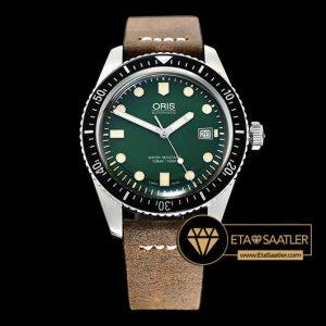 Oris Divers 7720 Serisi Çelik Kasa Yeşil Kadran A2836 Clone ETA