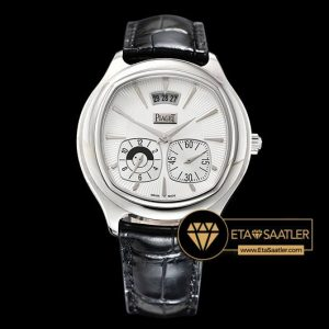 Piaget Emperador Coussin Dual Time Çelik Kasa Beyaz Kadran ETA