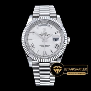 Rolex Day Date 228239 Damalı Beyaz Kadran 1:1 Super Clone ETA