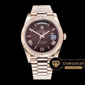 Rolex Day Date 228235 Kahverengi Kadran 1:1 Super Clone ETA