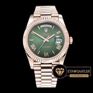 Rolex Day Date 228235 Yeşil Kadran 1:1 Super Clone ETA