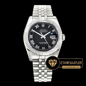 Rolex Datejust 126234 Roma Rakamlı Siyah Kadran V2 904L 1:1 Super Clone ETA