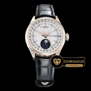 Rolex Cellini Date Moonphase 50535 Beyaz Kadran 1:1 Clone ETA