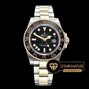 Rolex GMT-Master II 116713LN 18K Altın Kaplama Siyah Kadran 1:1 V2 904L Super Clone ETA