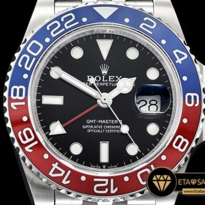 Rolgmt147b Gmt Master Ii 126710 Pepsi 904l Ssss Blk Gmf A2836 07 07