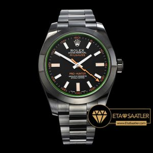 Rolex Milgauss 116400GV PVD Kaplama Çelik Kasa Siyah Kadran 1:1 Super Clone ETA