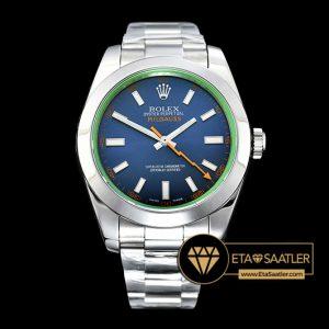 Rolex Milgauss 116400GV Çelik Kasa Z-Blue Kadran 1:1 Clone ETA
