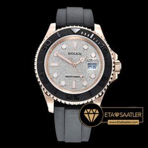 Rolex Yacht Master 116655 Taşlı Kadran Kauçuk Kordon 40mm 1:1 Clone ETA