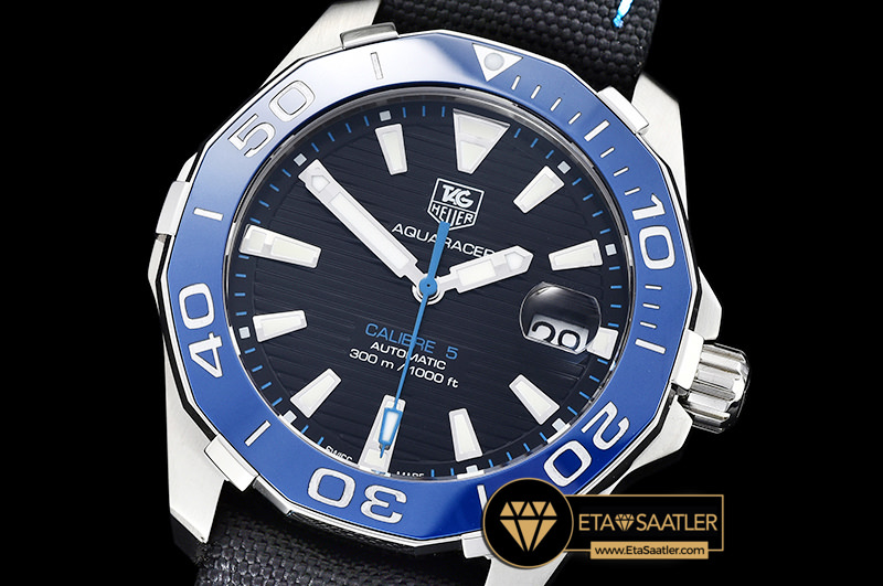 Tag0307 Aquaracer Calibre 5 Cer Blue Ssny Black V6f Asia 2824 Tag0307