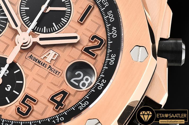 Audemars Piguet Royal Oak Offshore Chronograph Novelty Pembe Tema Çelik Kordon 2014 ETA