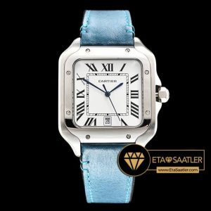 CAR0429E -Santos De Cartier 2018 Mens SSLE (Blue) Wht Swiss Qtz - 06.jpg