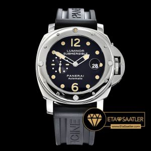 Panerai Luminor Submersible PAM024 Siyah Kadran Kauçuk Kordon ETA