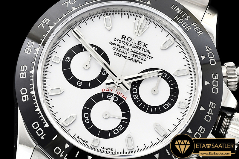 Rolex Cosmograph Daytona 116500LN Beyaz Kadran 1:1 Super Plus Clone ETA