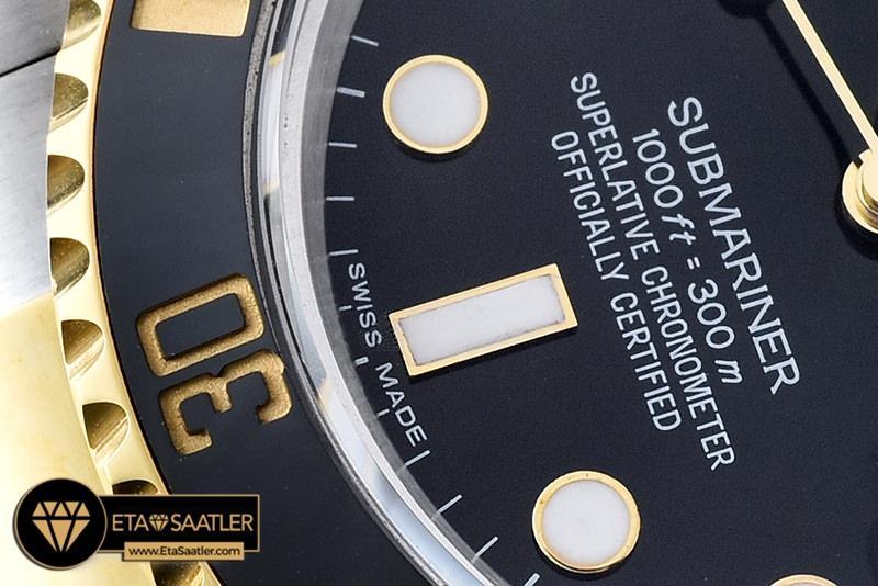 Rolex Submariner 116613LN Siyah Kadran 1:1 Super Clone ETA